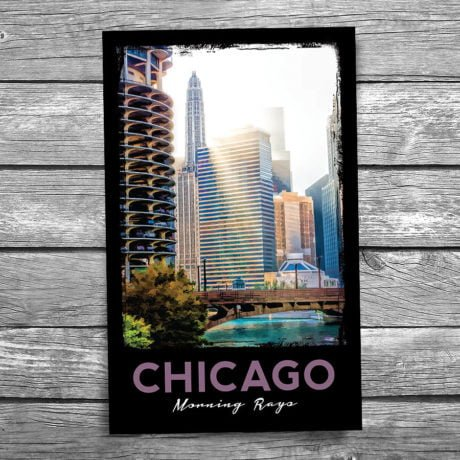 167-Chicago-Morning-Postcard-Front