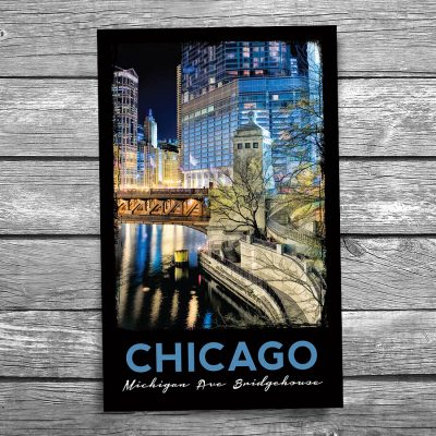 Chicago Michigan Avenue Bridgehouse Postcard