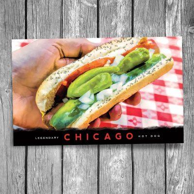 Famous Chicago Hog Dog Postcard
