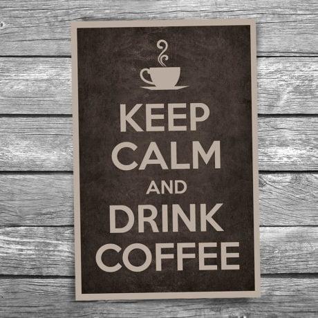 17-103-Keep-Calm-and-Drink-Coffee-Postcard