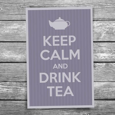 Keep Calm and Drink Tea Postcard