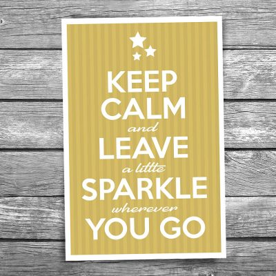 Keep Calm and Sparkle Postcard