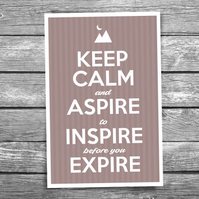 Keep Calm and Inspire Postcard