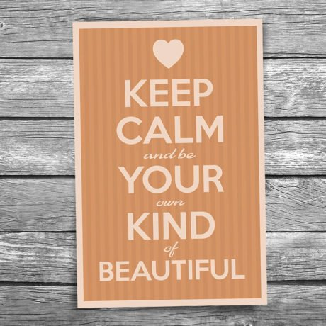 17-109-Keep-Calm-and-be-Your-Own-Kind-of-Beautiful-Postcard