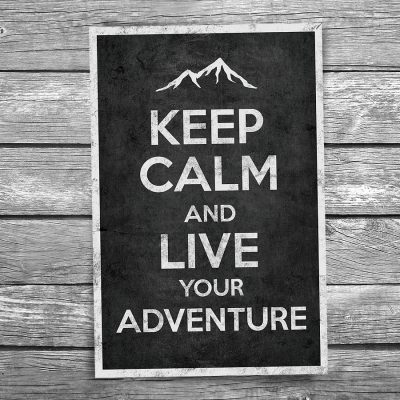 Keep Calm and Live Your Adventure Postcard