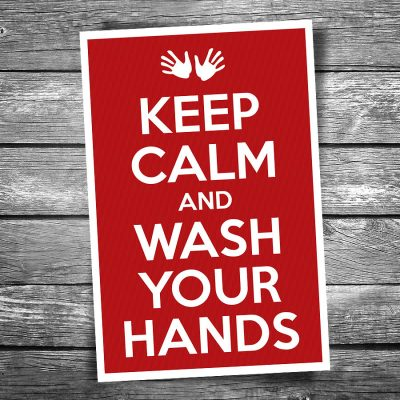 Keep Calm and Wash Your Hands Postcard