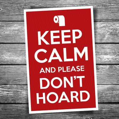 Keep Calm and Please Don't Hoard Postcard