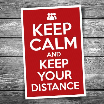 Keep Calm and Keep Your Distance Postcard