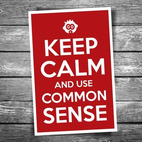 17-117-Keep-Calm-Use-Common-Sense-Postcard