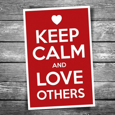 17-119-Keep-Calm-Love-Others-Postcard