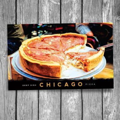 Famous Chicago Style Deep Dish Pizza Postcard