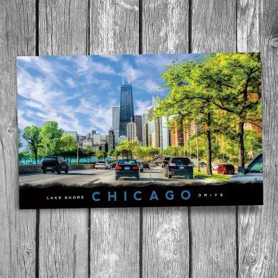 Chicago Lake Shore Drive Postcard