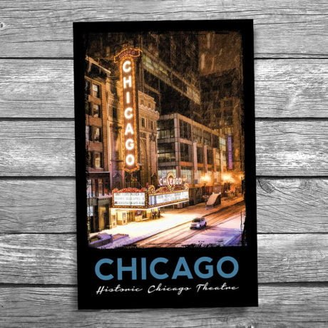 174-Chicago-Theatre-Postcard-Front