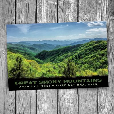 Lush Hills Smoky Mountain National Park Postcard