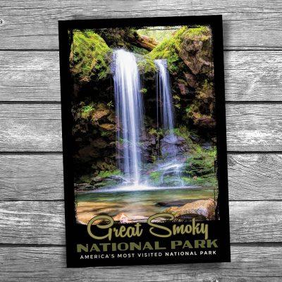 Grotto Falls Smoky Mountain National Park Postcard
