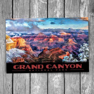 Snowy Grand Canyon National Park Postcard