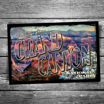 Greetings From Grand Canyon National Park Postcard