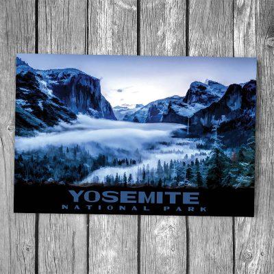 Yosemite National Park Tunnel View Snow Postcard