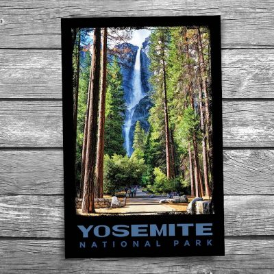 Yosemite National Park Bridalveil Fall Trees Postcard