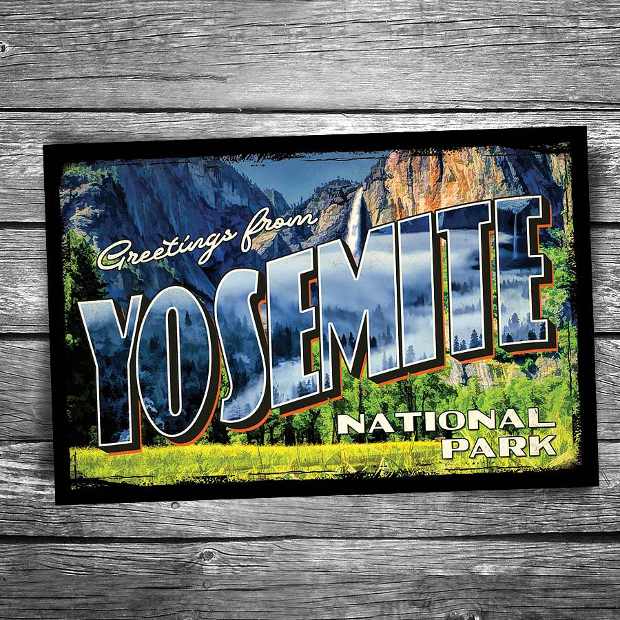 Greetings From Yosemite National Park Postcard Christopher Arndt