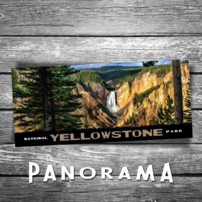 Yellowstone Panorama Postcard