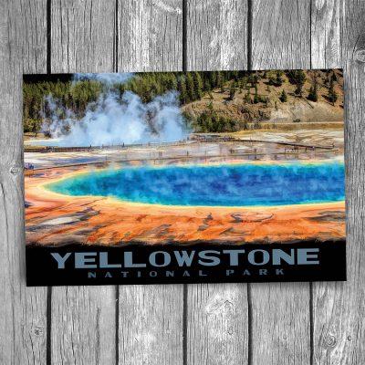 Yellowstone National Park Grand Prismatic Spring Postcard
