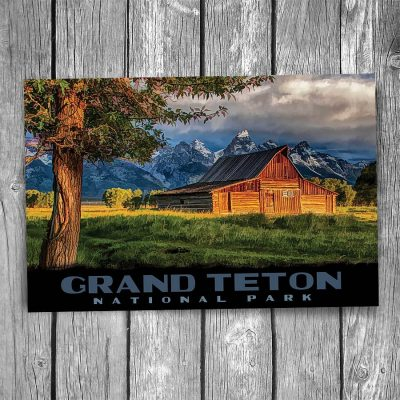 Grand Teton National Park Moulton Barn Postcard