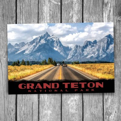 Grand Teton National Park Mountain Range Postcard