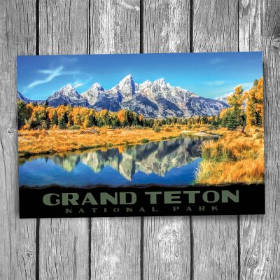 Grand Teton National Park Lake Reflections Postcard