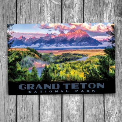 Grand Teton National Park Snake River Postcard
