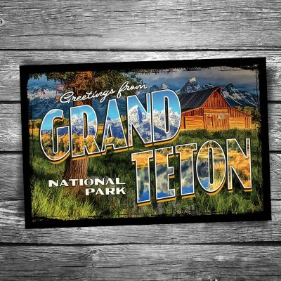 Greetings From Grand Teton National Park Postcard
