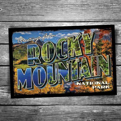 Greetings From Rocky Mountain National Park Postcard