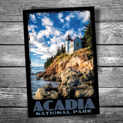 Acadia National Park Bass Harbor Lighthouse Postcard