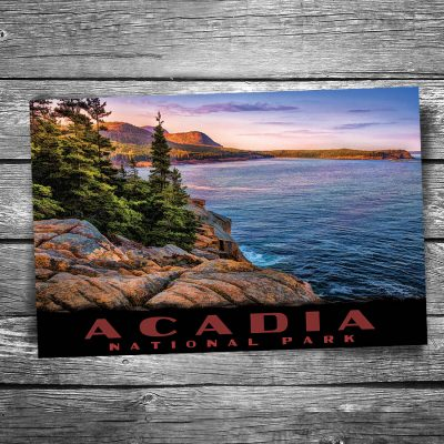 Acadia National Park Sunset Shoreline Postcard