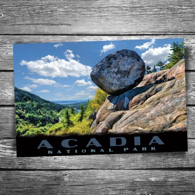 Acadia National Park Bubble Rock Postcard