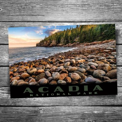 Acadia National Park Boulder Beach Postcard