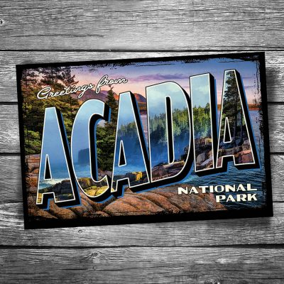Greetings from Acadia National Park Postcard
