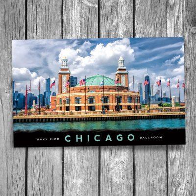 Chicago Navy Pier Ballroom Postcard