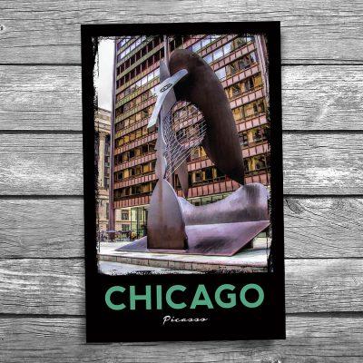 Chicago Picasso Postcard