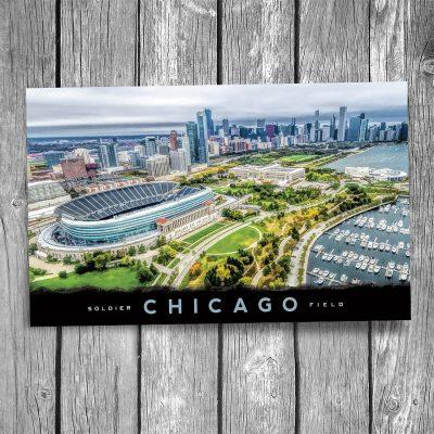Chicago Soldier Field Aerial Postcard