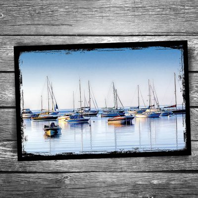 Door County Boat Reflections Postcard