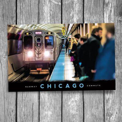 Chicago Underground Subway Postcard
