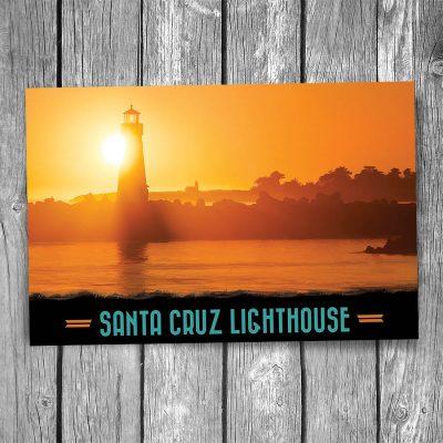 Santa Cruz Breakwater Lighthouse Postcard