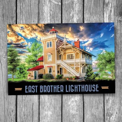 East Brother Lighthouse Postcard
