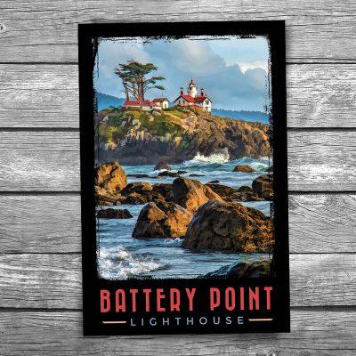 Battery Point Lighthouse Postcard