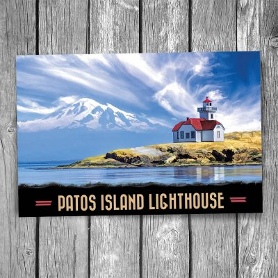 Patos Island Lighthouse Postcard