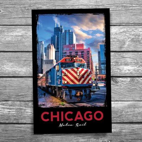 192-Chicago-Metra-Postcard-Front
