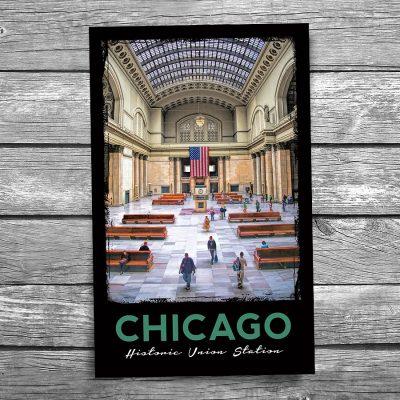 Chicago Union Station Grand Hall Postcard