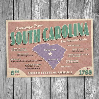 Greetings from South Carolina Postcard