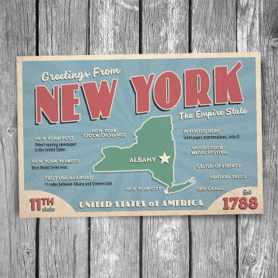 Greetings from New York State Postcard